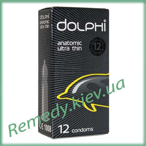 Презервативы Dolphi Анатомические ультра тонкие, 12 шт.