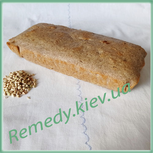 Хлеб из зеленой гречки с ядрышками