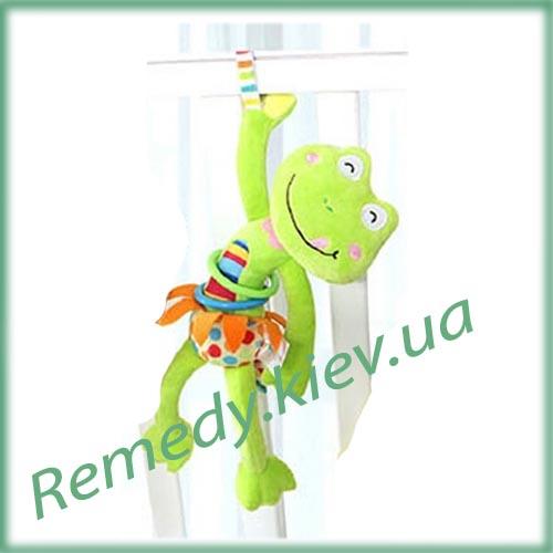 Лягушка игрушка погремушка для малышей