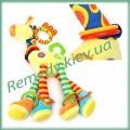 """Жираф (большой) с грызунками игрушка детская """"Happy monkey"""""""