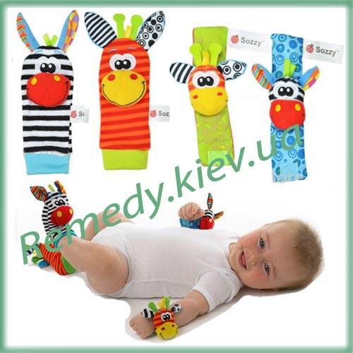 Игрушки погремушки с животными для детей (ослики или собачки)