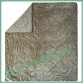 Двухстороннее махровое одеяло Cute SoundSleep  200х220 см (светло-серое)