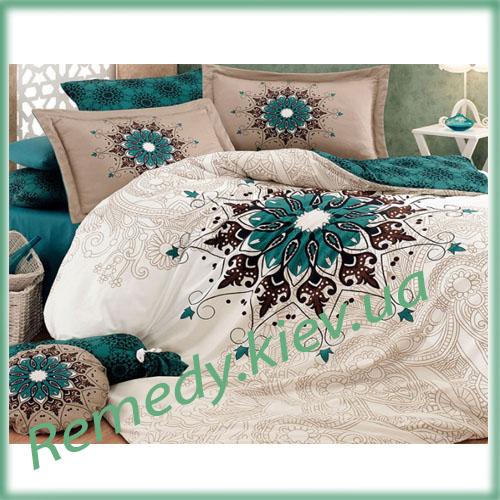 Комплект хлопкового постельного белья, полуторный