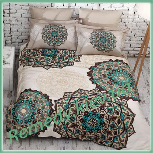 Комплект хлопкового постельного белья, двухспальный